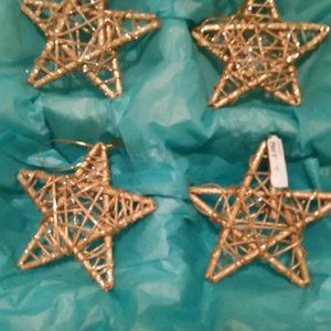 Christmas decorations Pier 1 NWT 8 gold stars